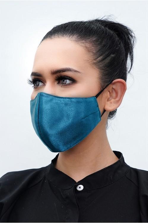 Ear Loop - Satin Silk Mask (Dark Turqoise)